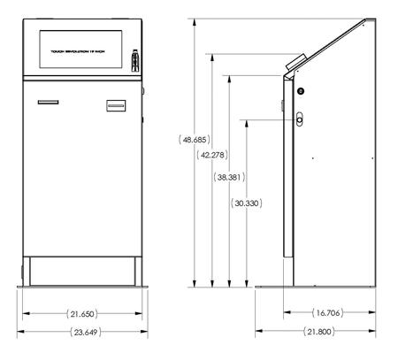 Standalone Touchscreen Kiosk ADA Compliant Kiosk